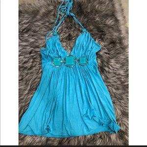 Sky Brand turquoise halter top